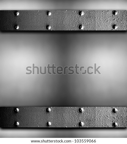 image from exterior building material texture background series (metal with rivets) - stock photo