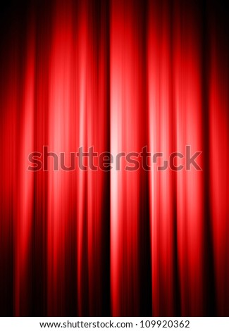image from interior series (curtains with light and shadow) - stock photo