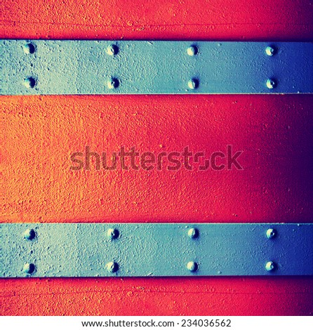 image from metal template texture background series toned with a retro vintage instagram filter effect - stock photo