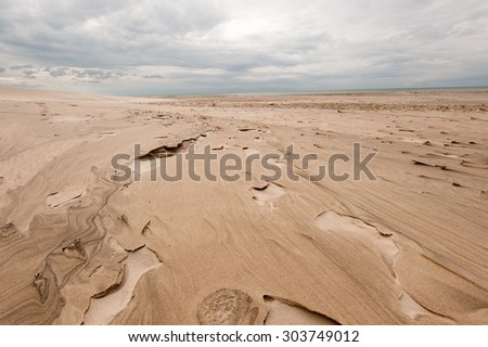 Image from the coastline of Tversted in Denmark - stock photo