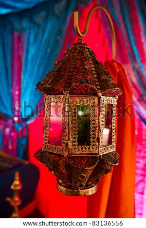 Image of a beautifully detailed Indian Lamp - stock photo