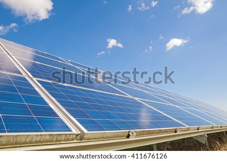 image of a big solar plant - stock photo