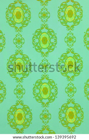 image of a bright vintage color-full wallpaper background - stock photo