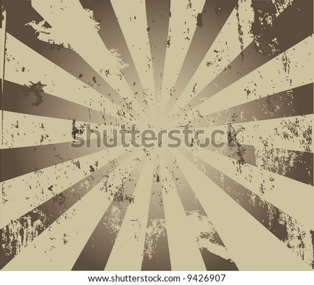 Image of a burst with grunge - stock photo