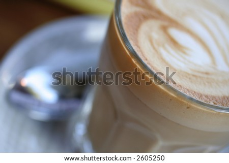 Image of a cafe latte - stock photo