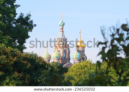 image of a Church of the Saviour on Spilled Blood, St. Petersburg, Russia - stock photo