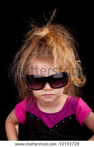 Image of a cool kid. - stock photo