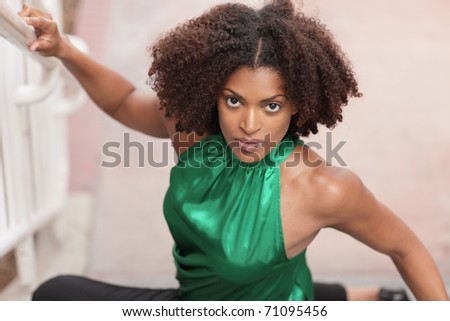 Image of a fashionable young woman - stock photo