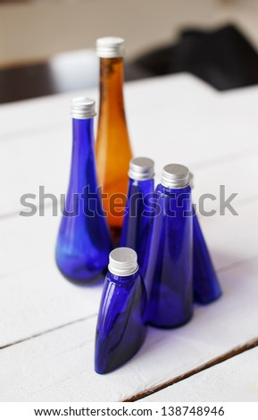 Image of a few different bottles - stock photo