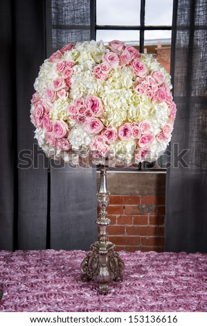Image of a floral arrangement to be used at a wedding - stock photo