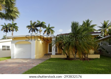 Image of a generic single family house - stock photo