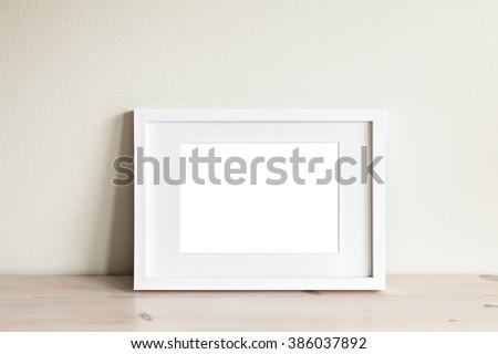 Image Horizontal White Frame Mockup Foto de stock (libre de regalías ...