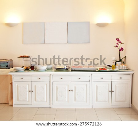 Image of a hotels buffet - stock photo