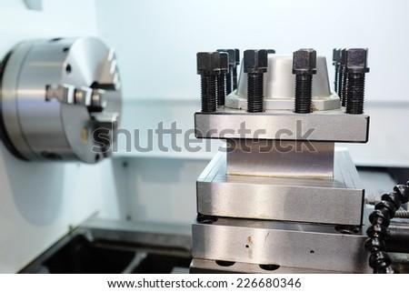 image of a lathe - stock photo