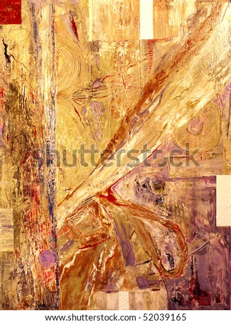 Image of a Mixed media Original oil On canvas - stock photo