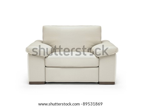 Image of a modern leather armchair isolated - stock photo