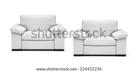 Image of a modern leather armchairs - stock photo