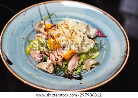 image of a plate of  a salad - stock photo