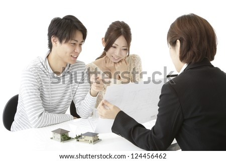 Image of a real estate agent - stock photo