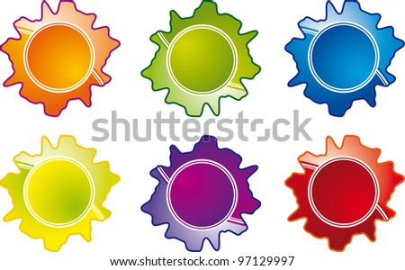 image of a set of sticker labels - stock photo