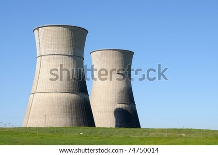 Image of abandoned nuclear power plant - stock photo