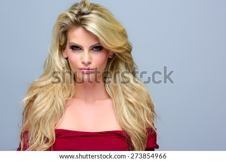 Image of an attractive young woman posing - stock photo