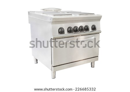 image of an industrial stove - stock photo
