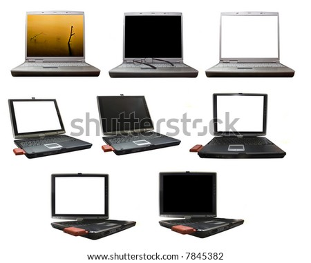 image of an opened laptop with the screen ready to edit