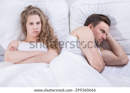 Image of angry and frustrated pair having relationship problem