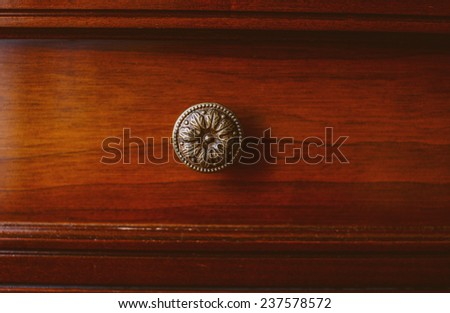 Image of antique brown cupboard  - stock photo