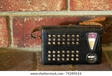 Image of antique / retro tadio - stock photo