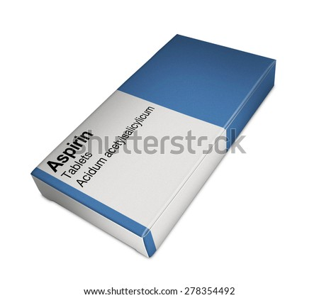 Image of aspirin box - stock photo