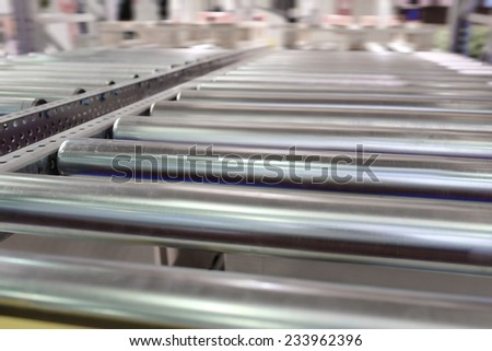 image of automatic packing conveyor - stock photo