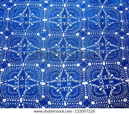 Image of beautiful dark blue background textile - stock photo