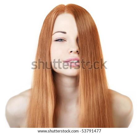Image of beautiful girl with gorgeous red hair