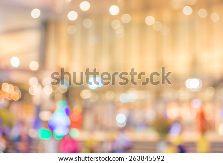 image of big retail Shop Blurred background . - stock photo