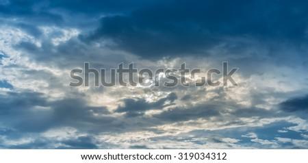 image of black cloud coming before rain drop image . - stock photo
