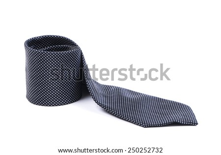 Image of black tie isolated close up.