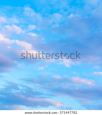image of  blue sky and white cloud on day time for background usage(horizontal). - stock photo