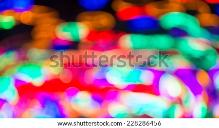 image of blurred christmas light for background usage.