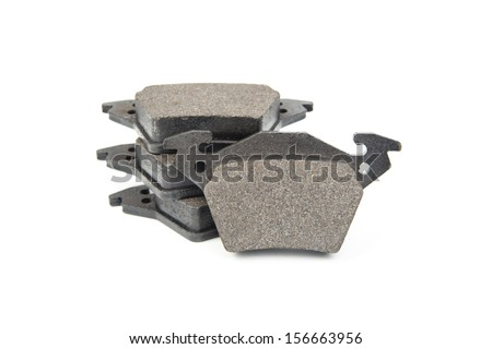 Image of brake pads isolated on white
