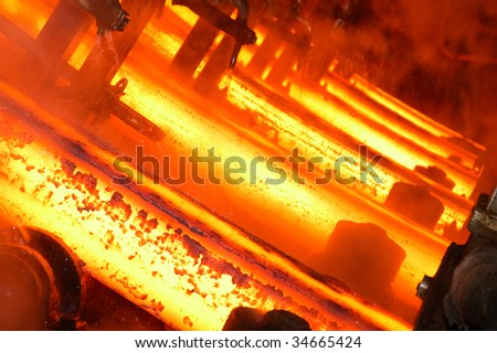 Image of burner from big factory - stock photo