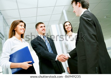 Image of business partners making an agreement
