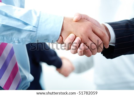 Image of business people?s hands making the agreements - stock photo