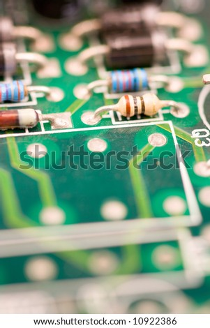 image of chips in a circuit of a component of a computer