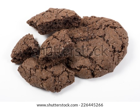 Image of chocolate cookies isolated. - stock photo