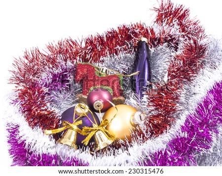 Image of christmas toys isolated close up. - stock photo