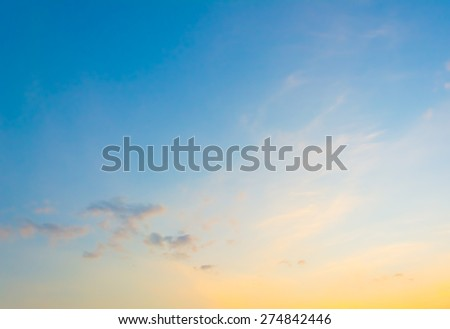 image of clear sky on day time for background usage. - stock photo