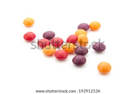 image of colorful candies isolated on white background - stock photo
