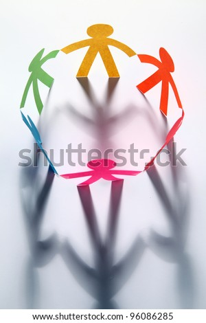 Image of community circle - stock photo